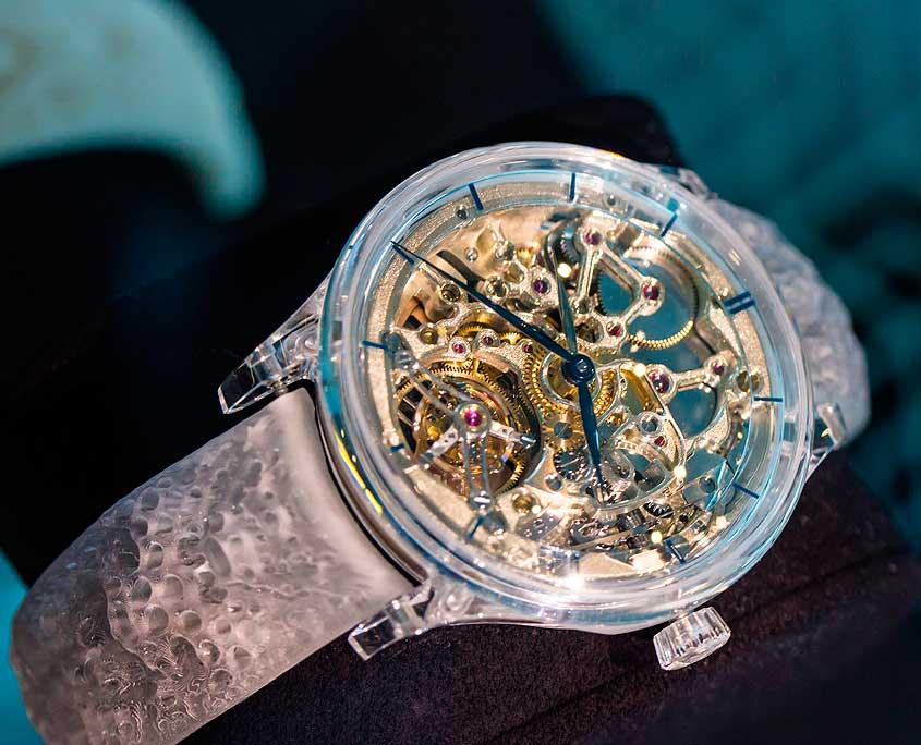 H. Moser & Cie Venturer Tourbillon Dual Time Sapphire Skeleton. Fotos: Rodrigo Galindo