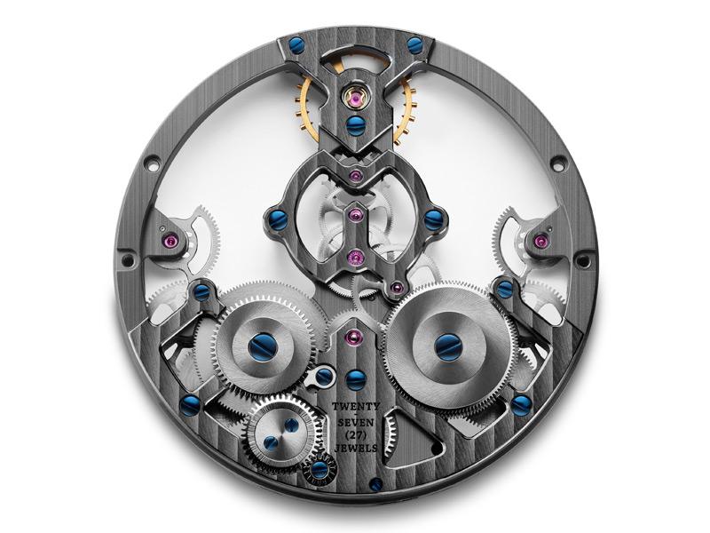 Otra de las capas que contribuye al efecto tridemensional del reloj.