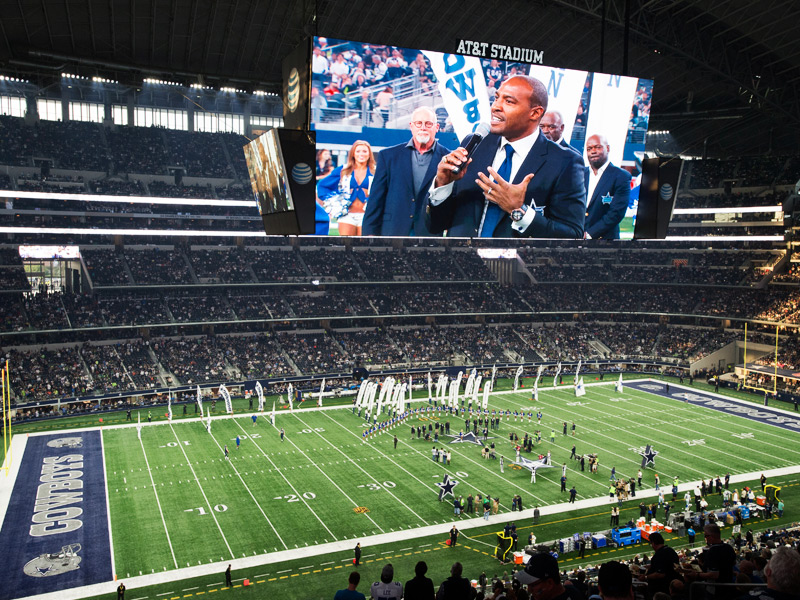 Darren Woodson luce el Big Bang Dallas Cowboys