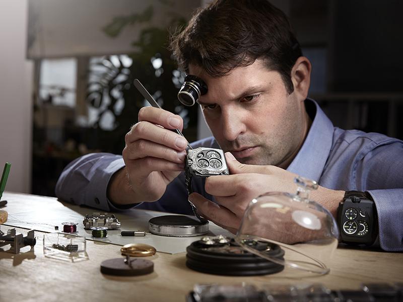 Felix Baumgartner, relojero y uno de los fundadores de Urwerk