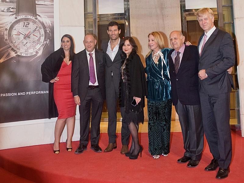 De izquierda a derecha: Alejandra Lorenzo, Ari Berger, Mark Webber, Ivonne Lebena, Bárbara Berger, Mauricio Berger y Rudolf Lang.