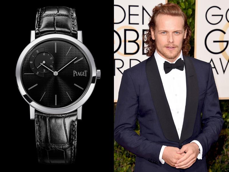 Sam Heughan, protagonista de Outlander, eleigió la elegancia del Piaget Altiplano 40 mm de platino.