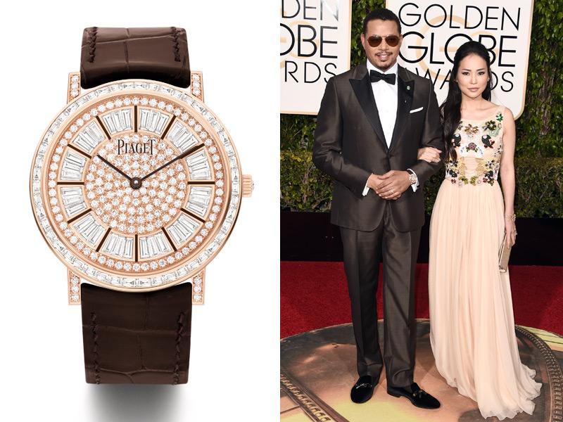 Terrence Howard prefirió un deslumbrante Piaget Altiplano High Jewelry plagado de diamantes y de oro rosa.