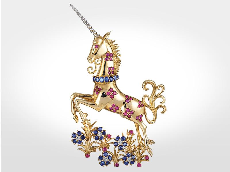 Este unicornio sirvió de inspiración para el diseño del reloj.