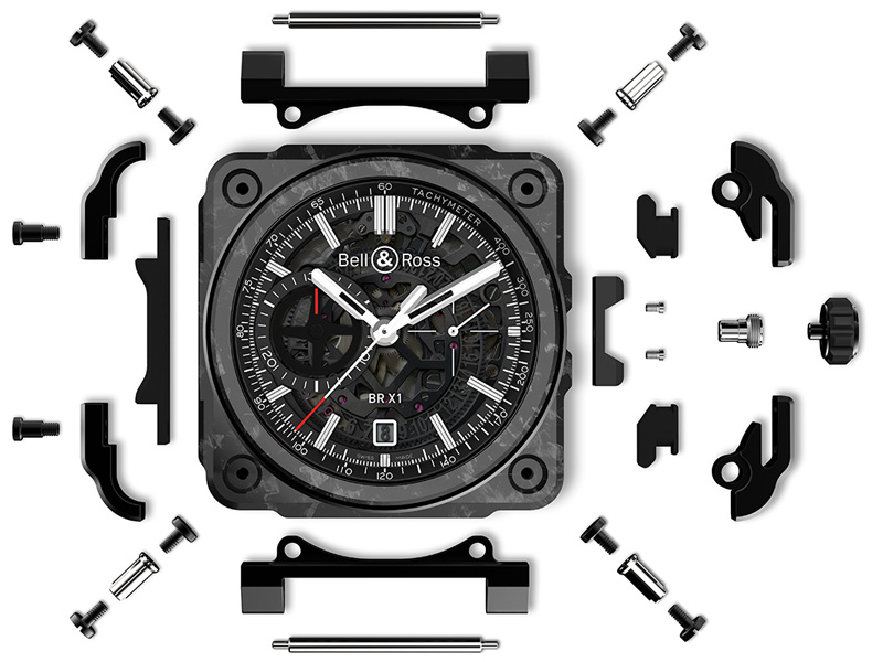 Bell_and_Ross_BR-X1_Skeleton_Chronograph_Carbon_Forge_Exploded_Case_1