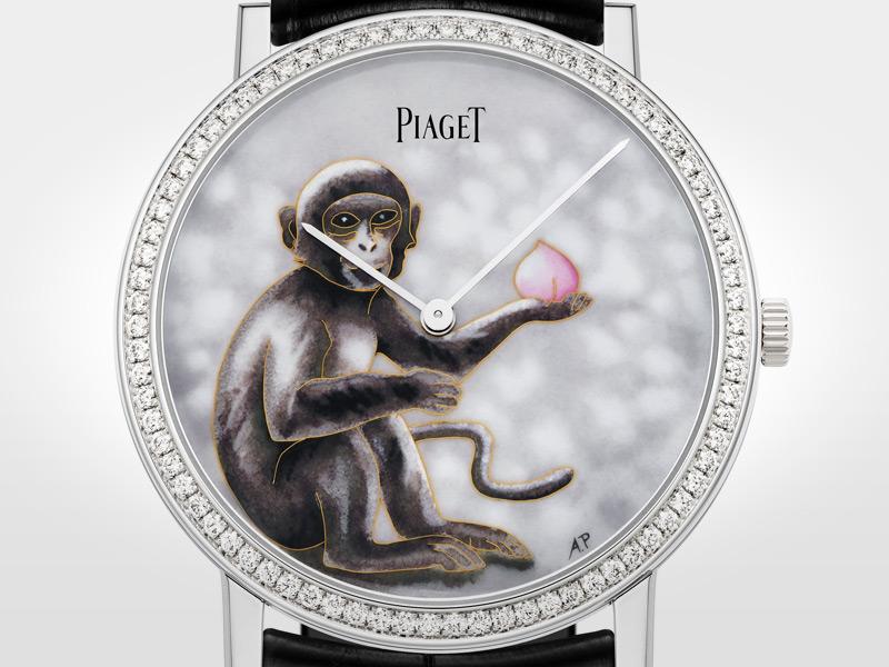 Piaget Altiplano Cloissoné Enamel Monkey.