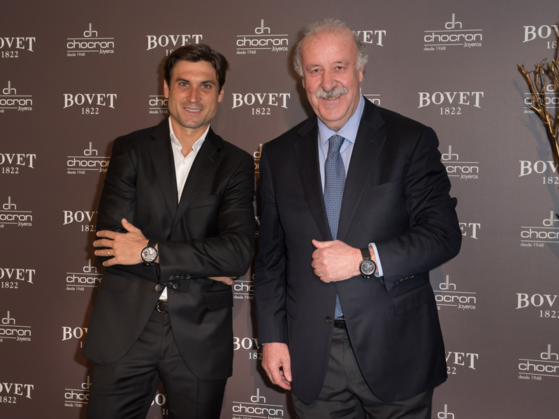 David Ferrer y Vicente del Bosque.