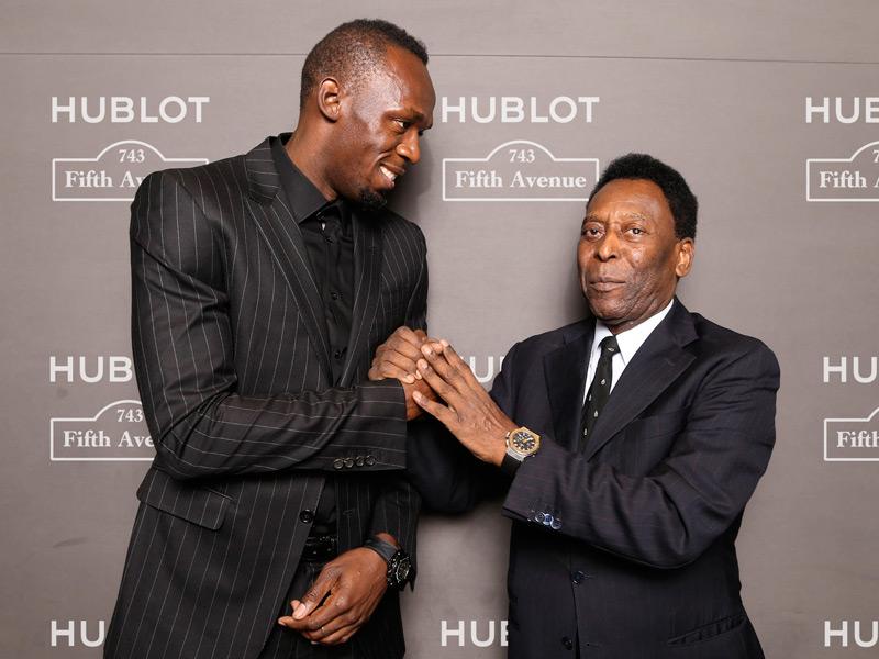 Usain Bolt y Pelé.