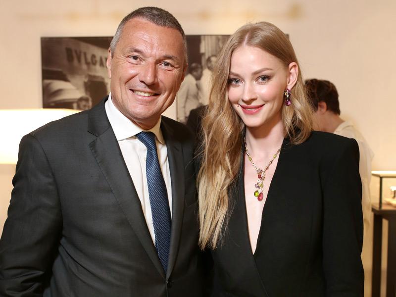 Jean-Christophe Babin y Svetlana Khodchenkova, embajadora rusa de Bulgari.