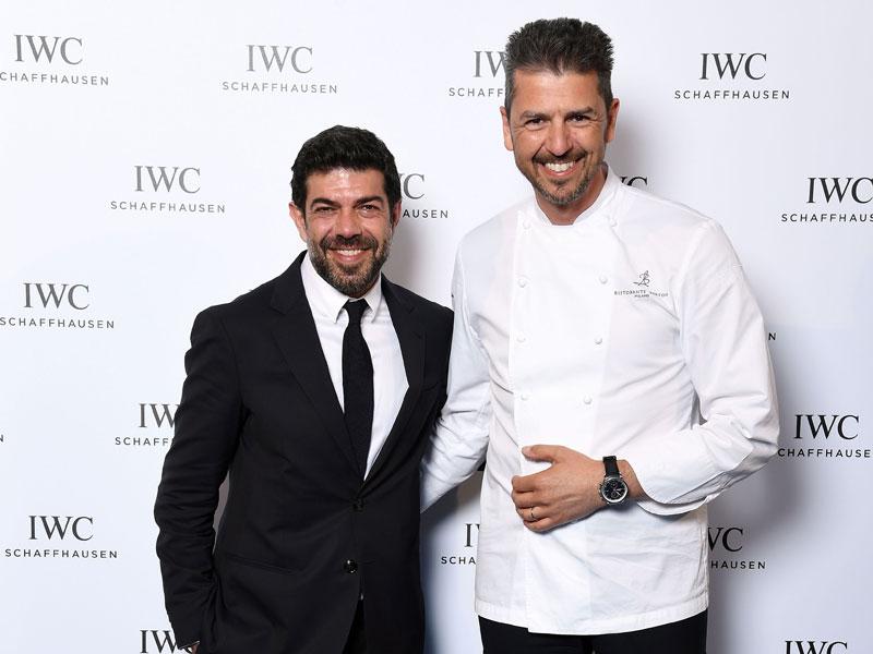 El actor Pierfrancesco Favino y el chef Andrea Berton, ambos embajadores de la firma.