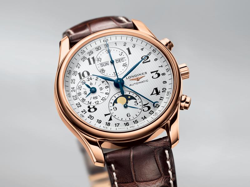 El reloj oficial del evento es de la colección Master Collection. En la foto, la versión Moonphase.