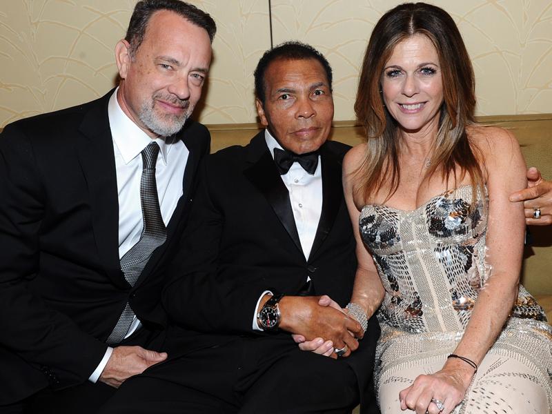 Tom Hanks, Muhammad Ali y Rita Wilson en la gala de subasta del IWC Edición Especial de Muhammad Ali