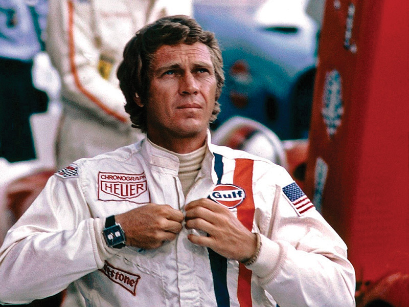 Steve McQueen en un momento cumbre de la cinta Le Mans.