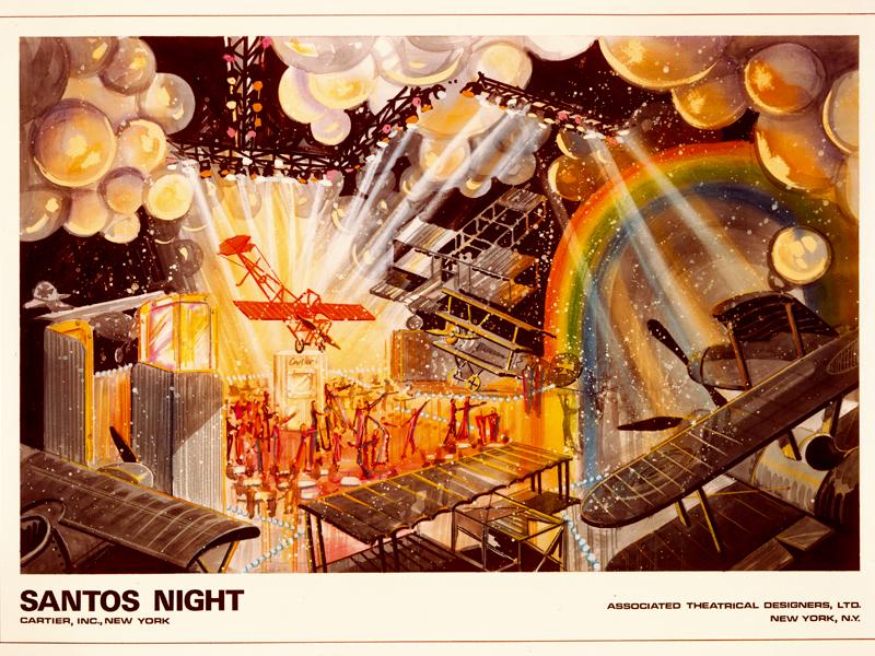 Aquí un cartel-invitación a la fiesta 'Santos Night', celebrada en Nueva York en 1979 para festejar al mítico reloj de Cartier.