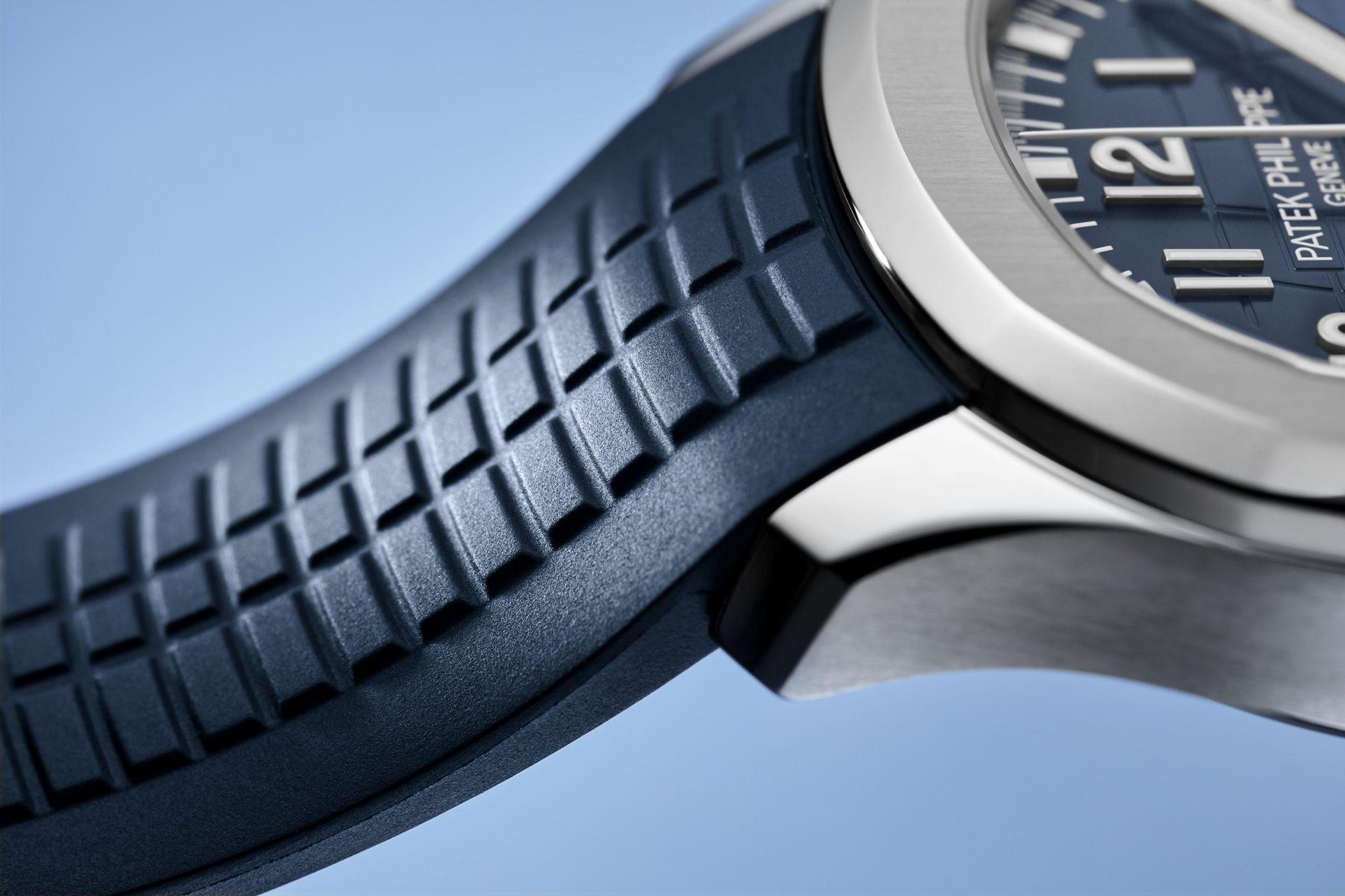 Aquanaut Cronografo oro blanco azul