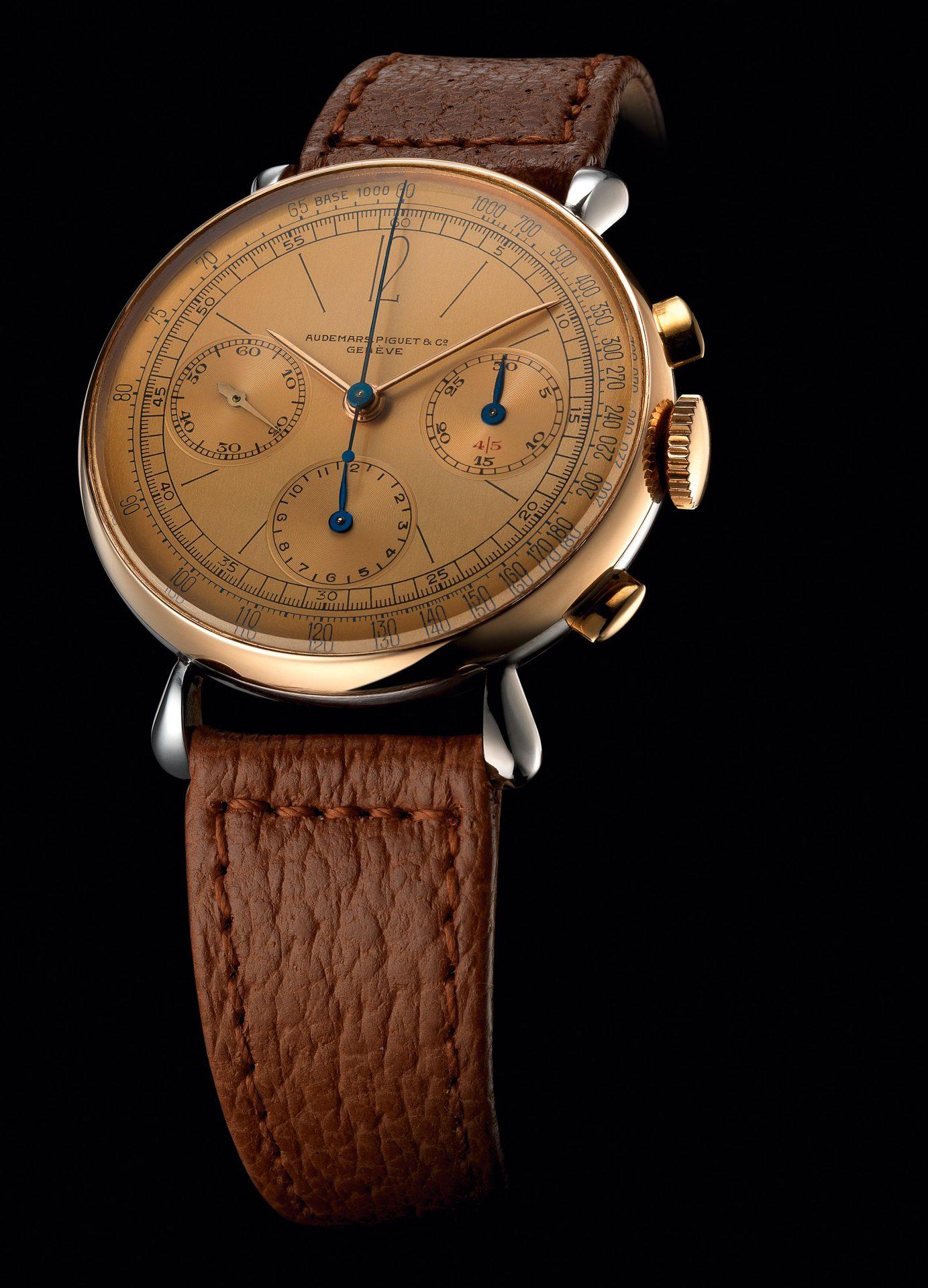 Antiguo reloj de Audemars Piguet con indicador cronógrafo de 45 minutos